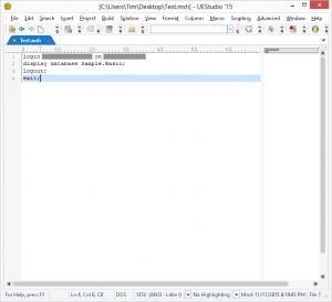 Create MaxL Script