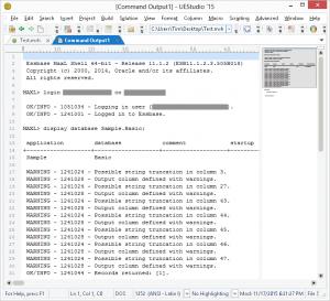 Output of MaxL Script