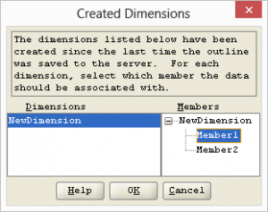 New Dimension Target Member for Existing Data