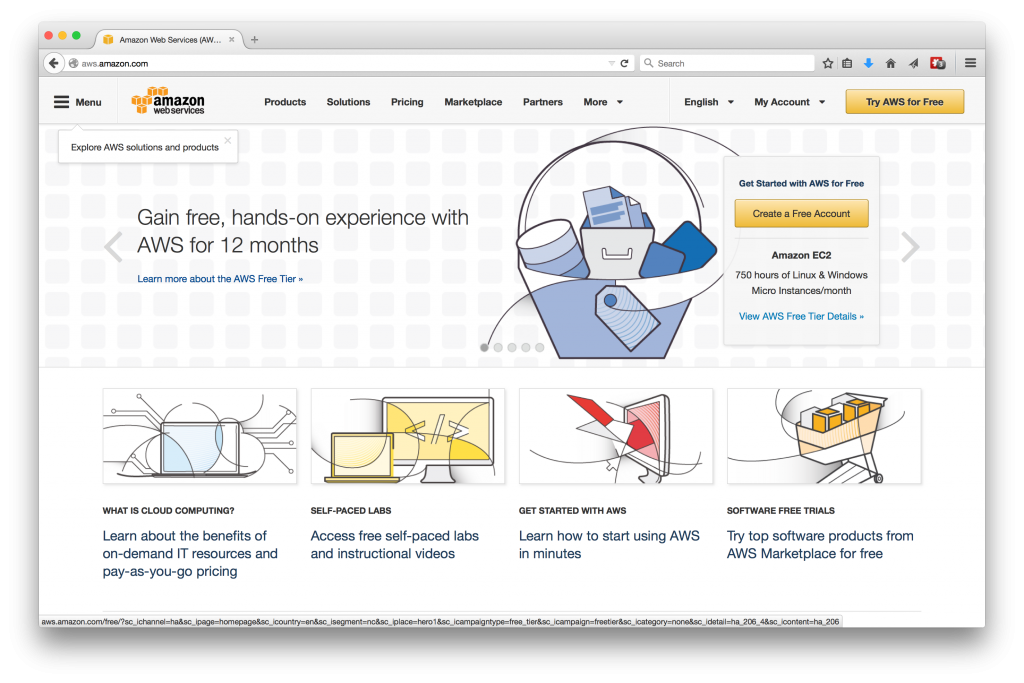 AWS Home Page