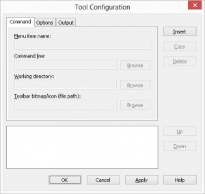 Tool Configuration Dialog