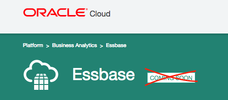 Oracle web page for Essbase Cloud